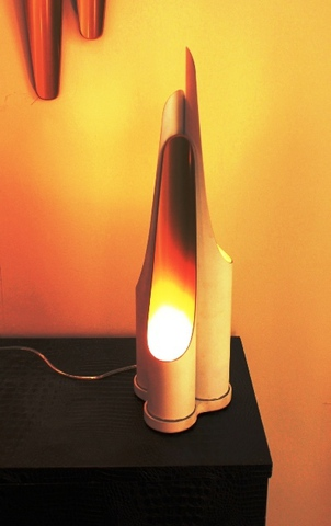 replica table lamp  COLTRANE( white )