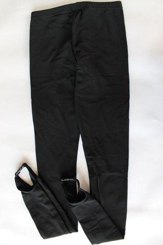 Лосины под ботинок, рост 146 (черные)
