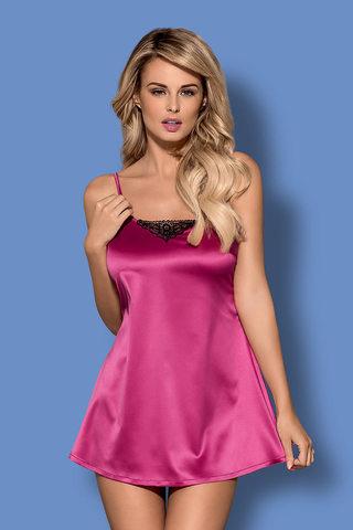 Комплект Satinia Babydoll Pink Obsessive