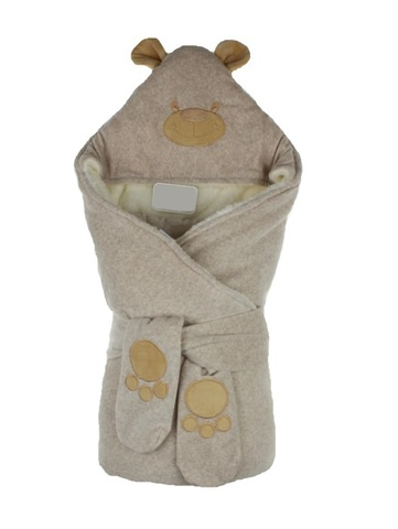 Зимний конверт для новорожденных на выписку Little Bear какао