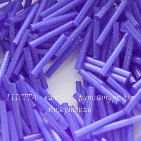 35061 Бисер Preciosa стеклярус 20 мм, синий сатин