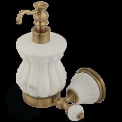 Дозатор Migliore Olivia  ML.OLV-60.607.BI.BR Белый/бронза для жидкого мыла настенный