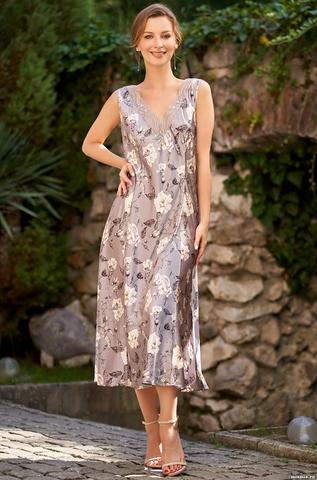 Длинная сорочка из натурального шелка Mia Amore 3588