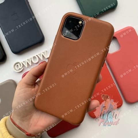 Чехол iPhone 11 Pro Max Leather Case /saddle brown/