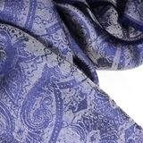 Шарф из шелка и модала. Цвет голубой/серый ETRO