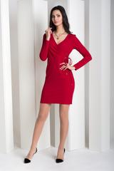 Ивона. Элегантное платье с запахом. Красный