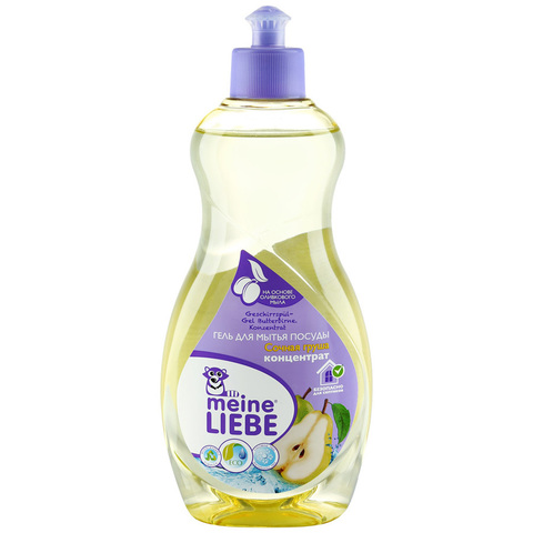 MEINE LIEBE Гель для мытья посуды концентрат, аромат сочной груши 500 мл
