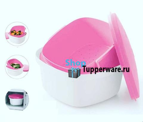 термосервирователь в бело-розовом цвете