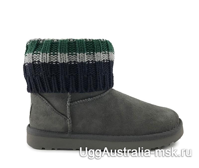 UGG Sacai Knit Classic Mini Grey