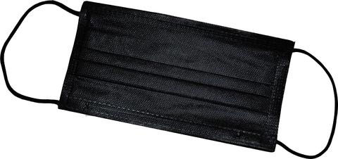 Маска медицинская 3-х слойная Черная 50 шт