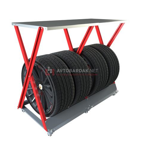 Горизонтальная стойка IF для хранения 4 колес