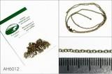 Цепь плетеная якорная - звено 2,0 х 1,5 мм (медь), длина 50 см