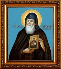Григорий Печерский, преподобный иконописец. Икона на холсте.