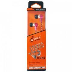 Гарнитура вакуумная Camudy CD-E220 pink