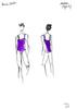Купальник Лямка (фиолетовый) Новый оттенок