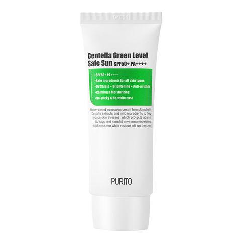 Солнцезащитный крем с экстрактом центеллы SPF50 PA++++, 60 мл / Purito Centella Green Level Safe Sun