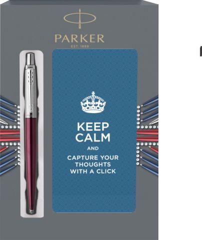 Подарочный набор с блокнотом и Шариковая ручка Parker Jotter Essential, Portobello Purple CT