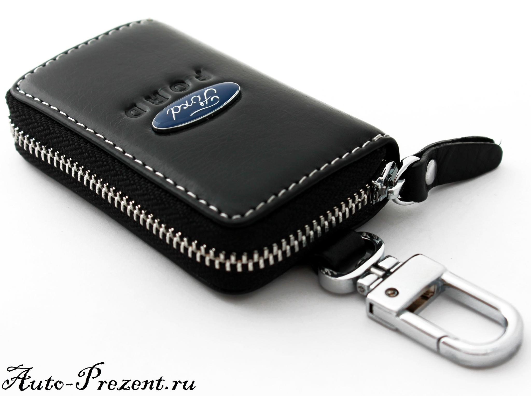 Кожаный чехол для ключа с логотипом FORD