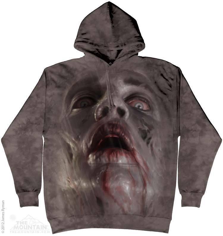 Толстовка Mountain с изображением зомби - Zombie Face Hoodie