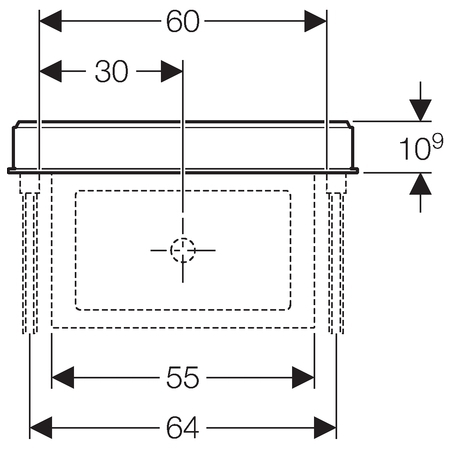 Сантехнический модуль для раковины Geberit Monolith 131.045.SJ.1
