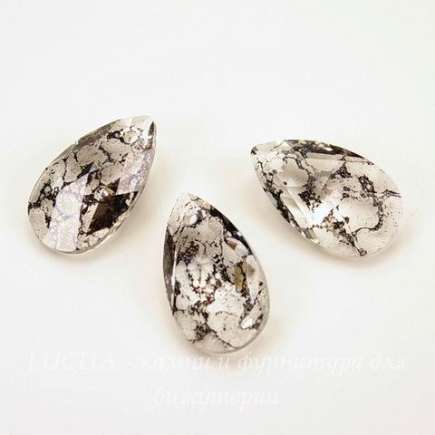 6106 Подвеска Сваровски Капля Crystal Black Patina (22 мм)