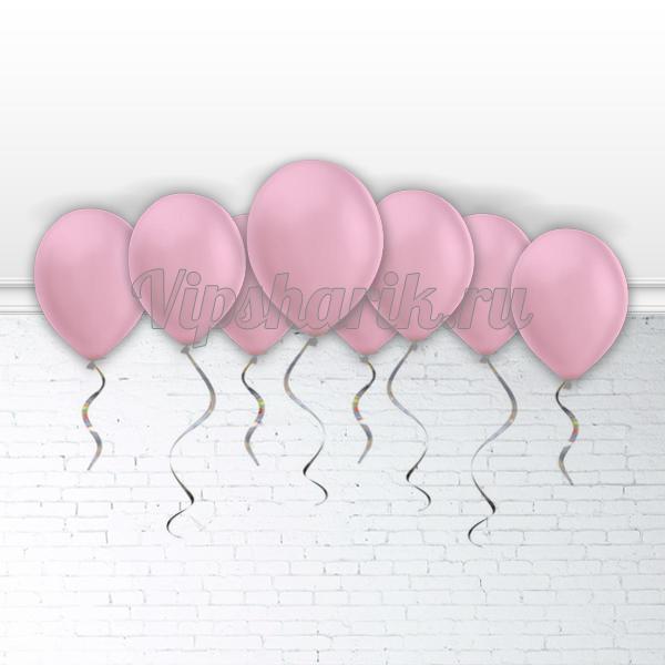Шары под потолок Розовые 30 см.
