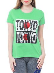 461134-6 футболка женская, салатовая