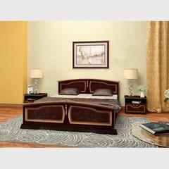 Кровать Елена 1,4 м орех темный