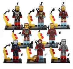 Minifigures Iron Man Blocks Building Series 03