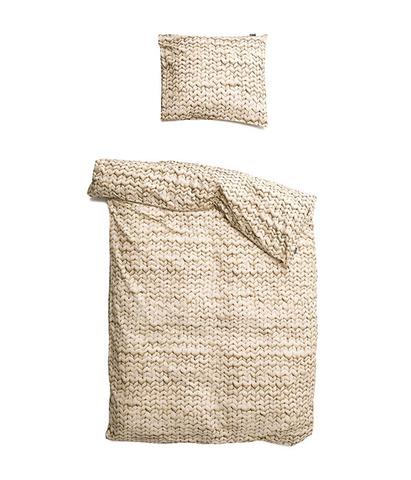 Комплект постельного белья Косичка бежевый фланель 150x200см, Snurk