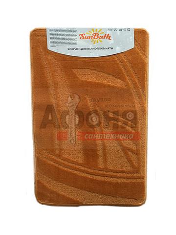 Коврик д/ванны 1 предм. Sunbath 55х85 оранжевый Q0421  (DA7374-1)