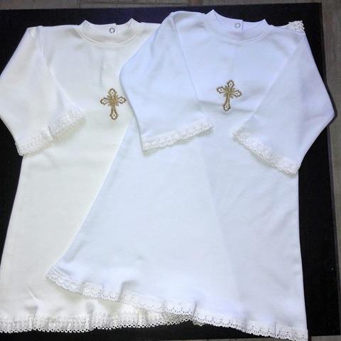 Крестильная Рубашка трикотаж