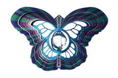 Ветряной спиннер Бабочка с кристаллом 25см (Iron Stop)
