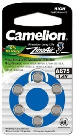 Батарейки Camelion ZA 675 / 6 BL