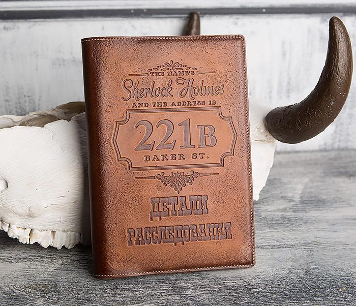 BY05-05-02 Подарочный кожаный ежедневник «Шерлок Холмс: Детали расследования» фото 02
