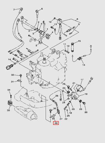 Опора переключателя  для лодочного мотора T40 Sea-PRO (10-29)