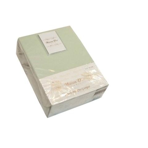 Простынь на резинке трикотажная зеленая  220х240  PENYE ПЭНЕ  Maison Dor Турция