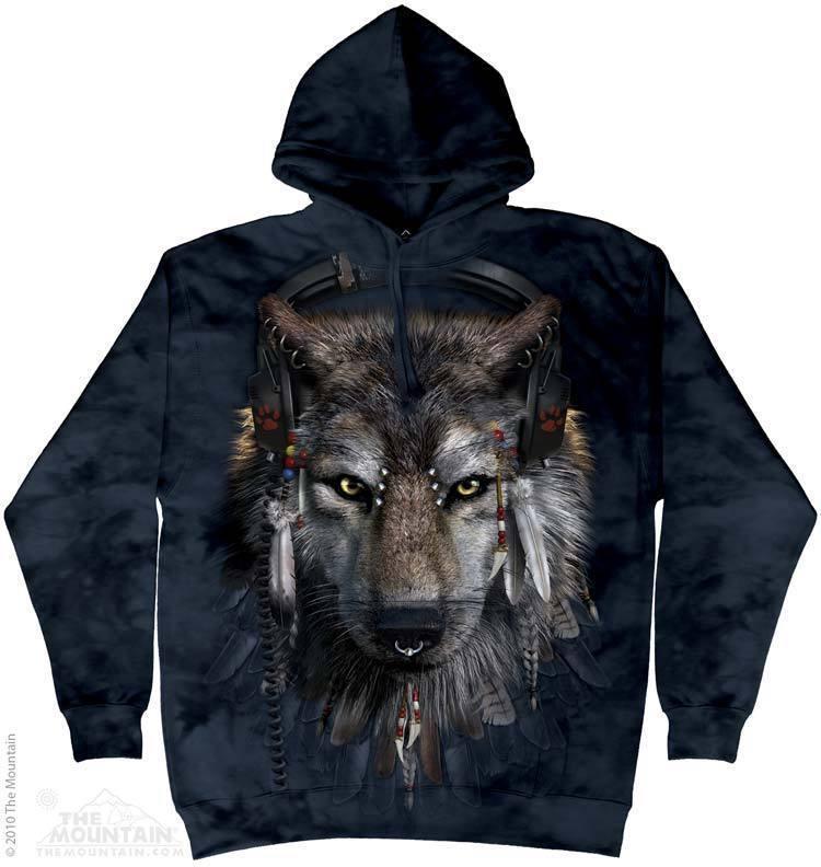 Толстовка Mountain с изображением волка - ди-джея - DJ Fen Hoodie