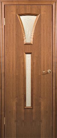 Дверь Краснодеревщик ДО 204, цвет тёмный орех, остекленная