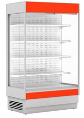 Охлаждаемый пристенный стеллаж CRYSPI ALT_N S 2550 LED с выпаривателем, 2575х817х2000