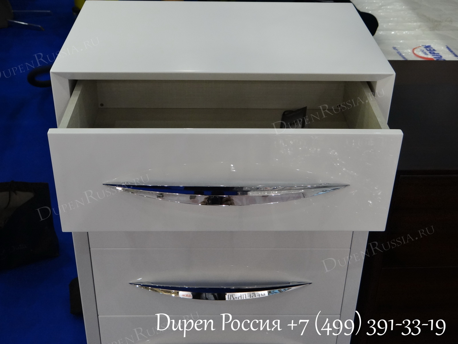 Комод вертикальный FRANCO 1028 CARMEN белый