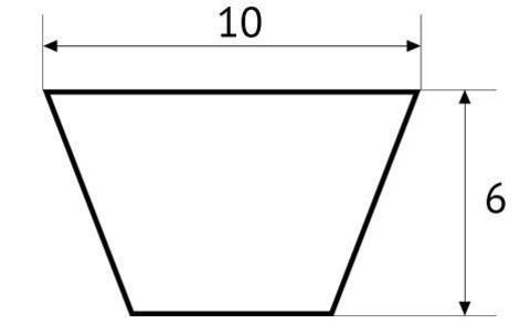 Ремень клиновой полиуретановый UNITED PARTS тип Z (10мм) не армированный (красный) 1 метр