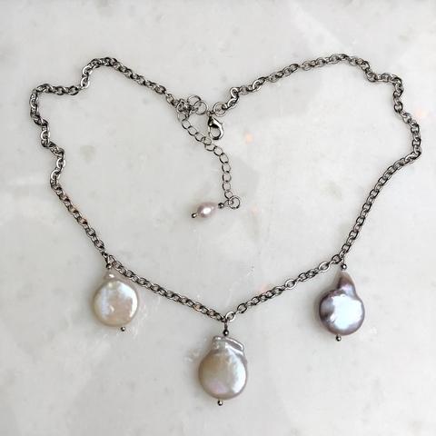 Колье Лили, серебряный цвет