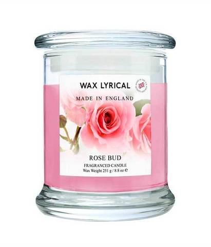 Свеча в стекле Бутон розы, Wax Lyrical