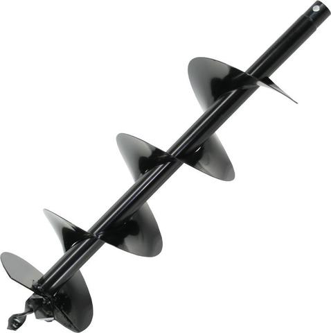 Шнек однозаходный для грунта DDE мотобура (однозаходный, ф = 100 мм, L = 800 мм, посадка на вал 20 мм)