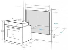Встраиваемый духовой шкаф Midea MO58100RGI-B схема встраивания