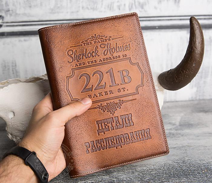 BY05-05-02 Подарочный кожаный ежедневник «Шерлок Холмс: Детали расследования» фото 04