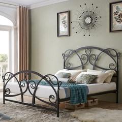Кованая кровать TDF1606 TD01 черная