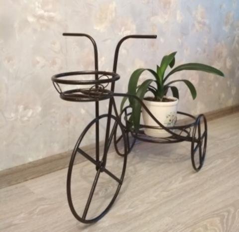 Подставка под цветы Велосипед-2 на два горшка