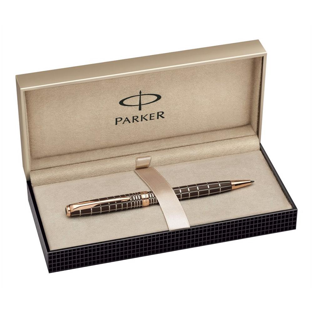 Parker Sonnet - PREMIUM Brown Rubber Lacquer PGT, шариковая ручка, M, BL